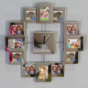 Nástenné hodiny s rámčekmi Picture, 36 cm - nerez