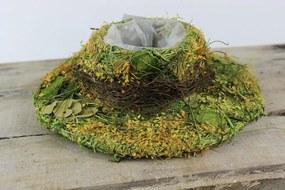 Zeleno žltý prírodný klobúk 25cm
