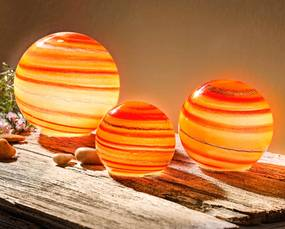 LED Guľa Naranja, 3 kusy
