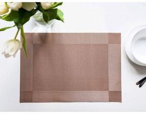 Prestieranie Deluxe 30 × 45 cm – Majda štvorce hnedé