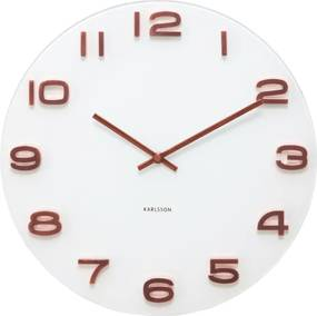 KARLSSON Nástenné hodiny Vintage kulaté biele