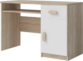 PC stôl Stone 08, sonoma / biela
