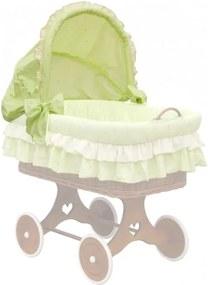 Boudička k proutěnému košíku - Scarlett Dráček - zelená