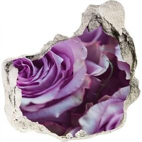 Fototapeta nálepka na stenu Fialové ruže WallHole-75x75-piask-106010688