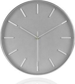 Nástenné hodiny ANDREA HOUSE, 30 cm, šedé/chróm X17052
