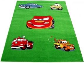Detský kusový koberec CARS zelený, Velikosti 240x330cm