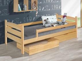 MAXMAX Detská posteľ z masívu 200x90cm so zásuvkou - MARY