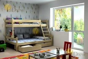 LPT 006 180x120 Poschodová posteľ s rozšíreným spodným lôžkom