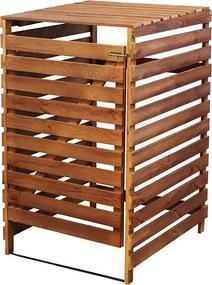 Drevený box na odpadovú nádobu OBK-120L-1-FAREBNÉ VARIANTY Povrchová úprava: Hnedá
