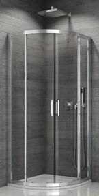 SanSwiss TOPR 55 100 50 07 Sprchový kout čtvrtkruhový 100×100 cm, aluchrom/sklo