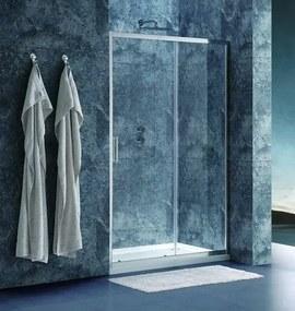 Sprchové dvere Siko Tex posuvné 120 cm, sklo číre, chróm profil, univerzálny SIKOTEXD120CRT