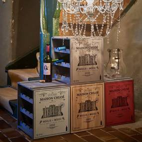 Butlers VINOTHEK Regál na víno - červená