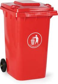 Plastová popolnica 240 litrov, červená