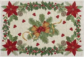 BO-MA Trading Vánoční prostírání Mašle, 32 x 48 cm