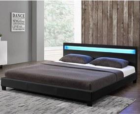Paris čalúnená posteľ 180 x 200 cm - čierna