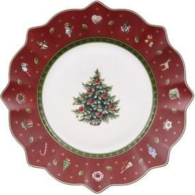 Červený dezertný tanier 24 cm Toy's Delight
