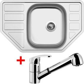 Set Sinks CORNO 770 V matný + batéria LEGENDA S
