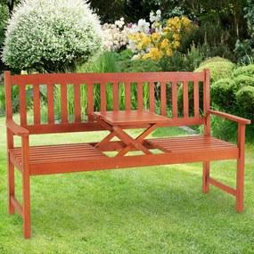 Záhradná lavica so stolčekom - 153 cm