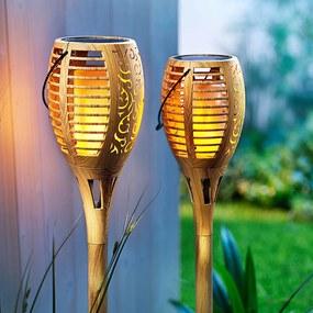 Solárna fakľa Flame Bambus, 2 ks