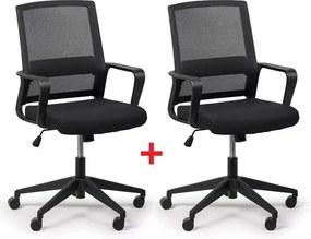 Kancelárska stolička Low 1+1 ZADARMO, čierna