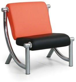 Sedacia súprava Jazzy II - kreslo, oranžová/čierna