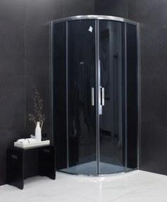MEXEN RIO - Štvrťkruhový sprchovací kút 90x90 cm, šedá, 863-090-090-01-40