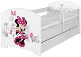 MAXMAX Detská posteľ Disney - MYŠKA MINNIE PARIS 160x80 cm