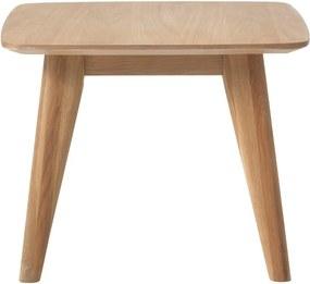 Odkladací stolík s nohami z dubového dreva Unique Furniture Rho, 60 x 60 cm