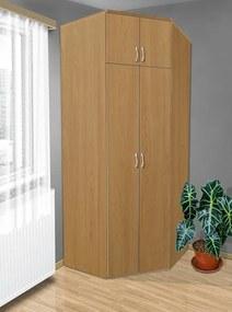 Nabytekmorava Šatníková rohová skriňa do spálne Alfa 21 farba lamina: olša (olše)