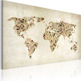 Obraz na plátne Bimago - Beige shades of the World 120x80 cm