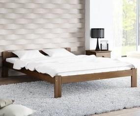 AMI nábytok Postel ořech Isao VitBed 140x200cm + Matrace Heka 140x200