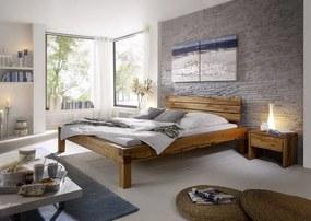 Bighome - YUKON posteľ 200x200cm, prírdný masívny dub