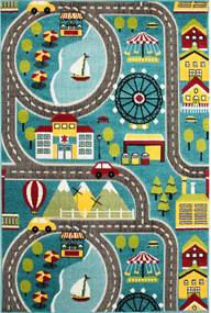 Detský kusový koberec City modrý, Velikosti 120x170cm