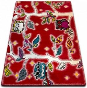Detský kusový koberec Na strome červený, Velikosti 140x190cm