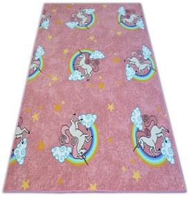 3kraft Detský kusový koberec UNICORN ružový