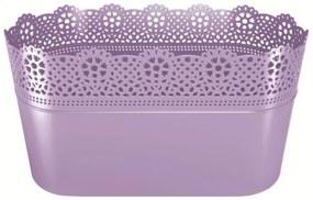 PlasticFuture Truhlík LACEY 28,5 cm fialový