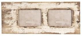 Nástenný drevený vintage fotorámček - 56 * 2 * 23 cm / 2x13 * 18 cm