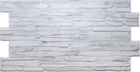 Obkladové 3D PVC panely rozmer 980 x 500 mm kameň svetlo sivý