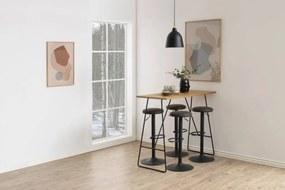 Moderná barová stolička Nenna, čierna-antracitová