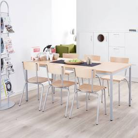 Jedálenský stôl Jamie, 1800x800 mm, bukový laminát / šedá