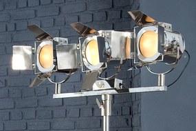 Stojaca lampa Lux 3 185 cm strieborná