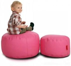 Ecopuf Podnožník k sedaciemu vaku ECOPUF - ekokoža M, E5 - Ružová