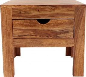Nočný stolík Amba 45x40x40 indický masív palisander Svetlomedová