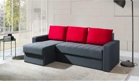 Expedo Rohová rozkladacia sedačka IDEA, 77x233x140, bahama 32/bahama25, levý roh