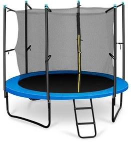 Rocketboy 250, 250 cm trampolína, vnútorná bezpečnostná sieť, široký rebrík, modrá