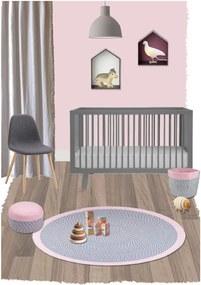 Detský ružový úložný kôš Nattiot Brenda