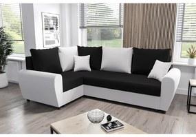 Elegantná sedacia súprava FLORIANA PLUS - čierna / biela