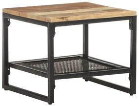 vidaXL Príručný stolík 40x40x35 cm, recyklovaný masív