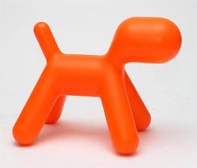 Stolička pre deti Psík, 70 cm, oranžová