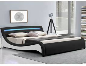 InternetovaZahrada - Čalúnená posteľ Malaga 180 x 200 cm - čierna